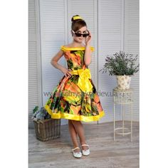 Нарядное платье для девочки Стиляги-004
