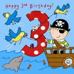 HD Background Age 3 Boys Pirate Birthday Cards For Kids Wallpaper Free Download Wallpaper
