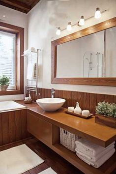 ванная-комната-раковина-зеркало-душ-каркасный-дом