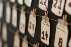 Rustic Wedding Mason Jar Escort Display & Place Cards {EXO Photography} - mazelmoments.com