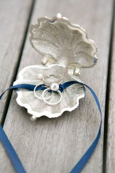 Beach Wedding Photos Unique Ring Pillow Alternatives - Eight adorable ring pillow alternatives for your littlest attendant to carry down the aisle. Perfect Wedding, Our Wedding, Dream Wedding, Wedding Ceremony, Trendy Wedding, Beach Ceremony, Elegant Wedding, Wedding Seating, Wedding Receptions