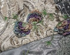I ❤ crazy quilting . . . January Silver/Dreams- Close detail of my Brazilian Pine Cones.