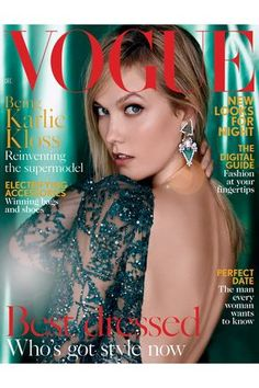 Karlie Kloss by Patrick Demarchelier for Vogue UK December 2015 cover - Elie Saab Haute Couture Fall 2015