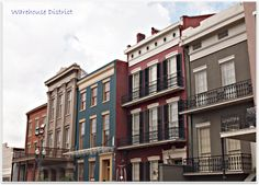Historic Townhomes in the New Orleans Warehouse District.