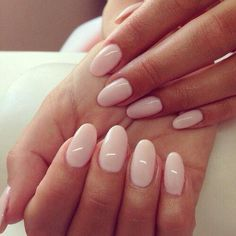 Light pink with rounded tips
