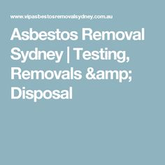 We offer qualified & licensed asbestos removal professionals throughout Sydney. Domestic and commercial property. My Test, Sydney, How To Remove, Amp