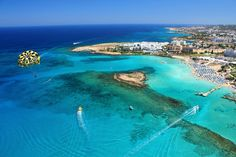 Nissi Beach in AyiaNapa is amongst the best beaches to visit in Cyprus Best Beaches In Europe, Best Beaches To Visit, Holiday Places, Holiday Destinations, South Cyprus, Nissi Beach, Cyprus Paphos, Cyprus Holiday, Places To Travel