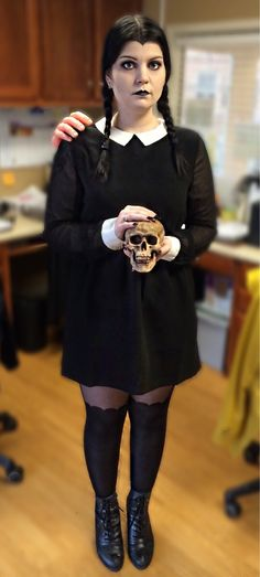 Wednesday Addams Halloween costume #addamsfamily