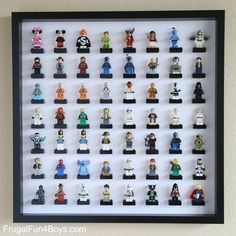 IKEA Frame LEGO Minifigure Display and Storage - Frugal Fun For Boys