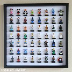 IKEA Frame LEGO Minifigure Display and Storage - Frugal Fun For Boys
