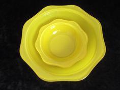 Vintage PYREX Serving Bowls, yellow pyrex bowl,rare vintage Pyrex, Vintage…