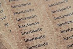 Handmade Kraft Labels  Brown  Sticker  by myhandmadecrafts