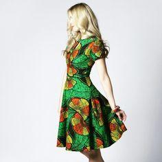 Inject some #colour into your #summerlook  #dresses #London #londondesigner #handmade #fashion #model #ss15 #fashionboutique #londonfashion #africanprint #printdesigns #tribalprint