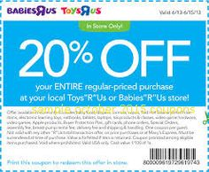 Toys R Us and Babies R Us Coupon available to print. The coupon is for off your entire regular-priced purchase at your local Toys R Us or Babies R Us store! Print: Toys R Us Coupon Grocery Coupons, Online Coupons, Free Printable Coupons, Free Printables, Coupons For Boyfriend, Code Promo, Love Coupons, Extreme Couponing, Babies R Us