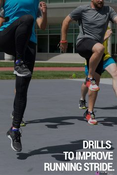 3 Drills to Improve Running Stride and Speed 3 Drills to Improve Running Form, Stride and Speed - The Fit Foodie Mama Running Drills, Running Form, Running Workouts, Running Tips, Track Workout, Trail Running, Agility Workouts, Quick Workouts, Start Running