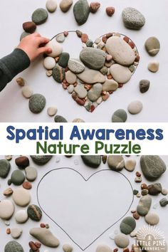 Work on Spacial Awareness With This Simple Nature Shape Puzzle Little Pine Learners Home Learning, Preschool Learning, Preschool Activities, Teaching, Early Learning, Art Activities For Preschoolers, Activities For 3 Year Olds, Nature Based Preschool, Cabin Activities
