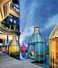 Modern Hotel Interior Design | Love the Bright Colors