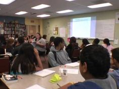 ▶ 10th Grade English - YouTube - A teacher is re-teaching about using evidence in their writing.