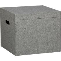 grey felt file box (from cb2.com) - expensive, but pretty.