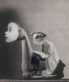 """deep dread of gestures as yet unmade living for a small space"" Irina & Silviu Szekely, collage."