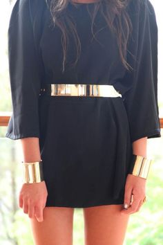 Coveted Gold Metal Plated Belt