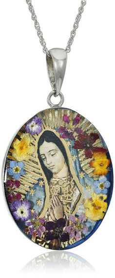 online shopping for Sterling Silver Virgin Mary Guadalupe Pressed Flower Pendant Necklace, 18 from top store. See new offer for Sterling Silver Virgin Mary Guadalupe Pressed Flower Pendant Necklace, 18 Mary Of Guadalupe, Body Jewelry, Jewelry Necklaces, Charm Bracelets, Jewelry Gifts, Jewlery, Silver Jewelry, Catholic Jewelry, Affordable Jewelry