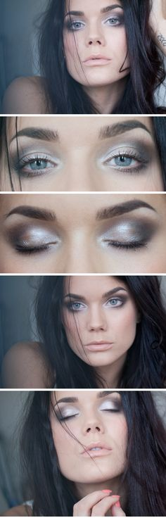 """Today's Look : """" A thousand times I've played this game"""" -Linda Hallberg ( a very soft and natural eye look without eyeliner. Goes to show it can be bare and beautiful. MAC eyeshadow quad Bare my Soul) 04/24/13"""