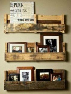 Pallet Shelf for dining room