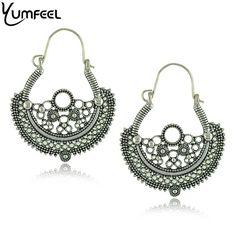 Vintage Jewelry Earrings Metal with Vintage Tibetan Silver Plated Earring for woman Special Earrings