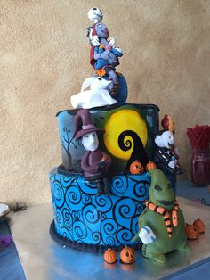 Charming Nightmare Before Christmas Baby Shower Cake