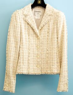 Chanel Light Pink and Lavender Tweed Single Breasted Jacket
