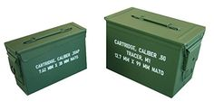 """Rankam Metal Products 2 Piece Nested Utility Boxes, 11"""" x 3.8"""" x 7.25""""/12.9"""" x 7.29"""" x 8.9"""", Army Green"""