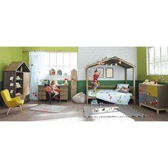 Tapis enfant renard en coton gris 80 x 120 cm for ts - Tapis enfant maison du monde ...