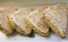 yetur'la lezzet kareleri: lor kremalı piramit pasta