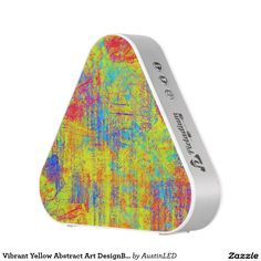 Vibrant Yellow Abstract Art DesignBeautiful bursts Speaker