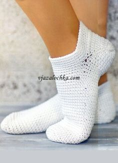 Crochet Short Socks.