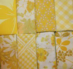 yellow vintage fabric