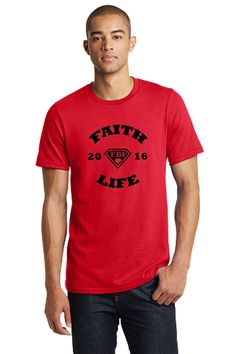 FBF Faith Life Men's Fitted Crew - Red