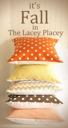 Ten June: Decor- Love these pillows