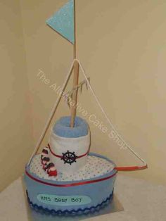 BABY SHOWER~Ship ahoy, nappy cake