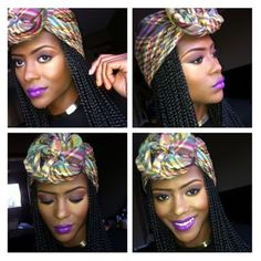 MAKE - UP & HAIR / BRAIDS / BOX BRAIDS / POETIC JUSTIC BRAIDS / SYNTHETIC HAIRSTYLES / PROTECTIVE HAIRSTYLES / HEAD WRAP /