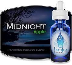Halo Midnight liquid with taste of Apple.