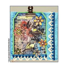 Crafty Individuals CI-247 - 'Lovebirds' Art Rubber Stamp, 52mm x 95mm - Crafty…