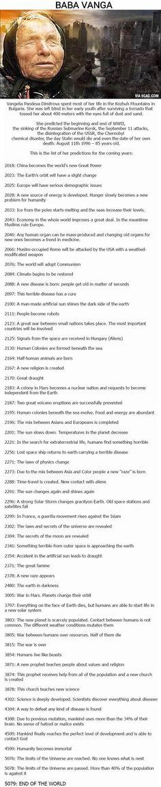 Baba Vanga. Predicted the future multiple times