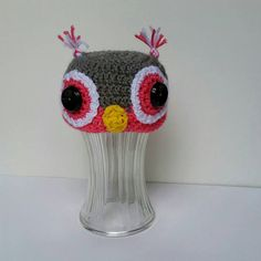 Check out this item in my Etsy shop https://www.etsy.com/listing/532372393/crochet-owl-hat-baby-shower-gift-newborn
