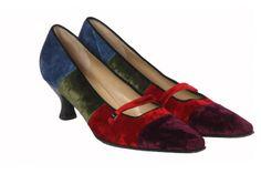 Salvatore Ferragamo velvet shoes