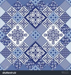 stock-vector-gorgeous-seamless-pattern-from-dark-blue-moroccan-tiles-ornaments-vector-patchwork-pattern-with-356370692.jpg (1500×1600)