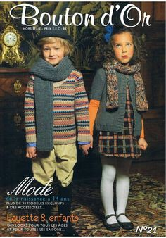 Catalogues enfants · L&N Knitting Books, Knitting For Kids, Lace Knitting, Knitting Patterns, Knit Crochet, Crochet Patterns, Pull Bebe, Knitting Magazine, Arm Warmers