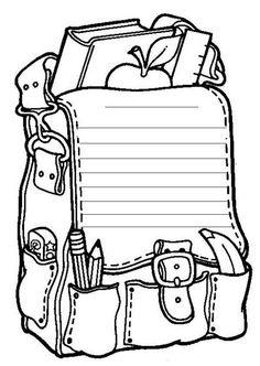Back To School Coloring Pages 8 - Free Printable Coloring Pages… Free Coloring Sheets, Free Printable Coloring Pages, Coloring Pages For Kids, Coloring Books, Colouring, Free Printables, Printable Crafts, Welcome To Kindergarten, Kindergarten Colors