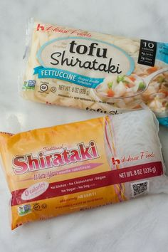 """A few years ago, a friend talked about some kind of zero-calorie noodle she had just discovered. """"Zero calories?"""" I scoffed. I thought that such a thing wouldn't be tasty or worth my time, but I picked some up recently and was converted. Shirataki noodles are great everyday noodles, and you should give them a try, too!"""